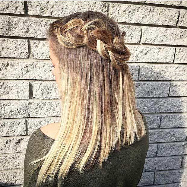 Peachy 17 Chic Braided Hairstyles For Medium Length Hair Stayglam Short Hairstyles Gunalazisus