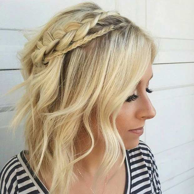 Enjoyable 17 Chic Braided Hairstyles For Medium Length Hair Stayglam Short Hairstyles For Black Women Fulllsitofus