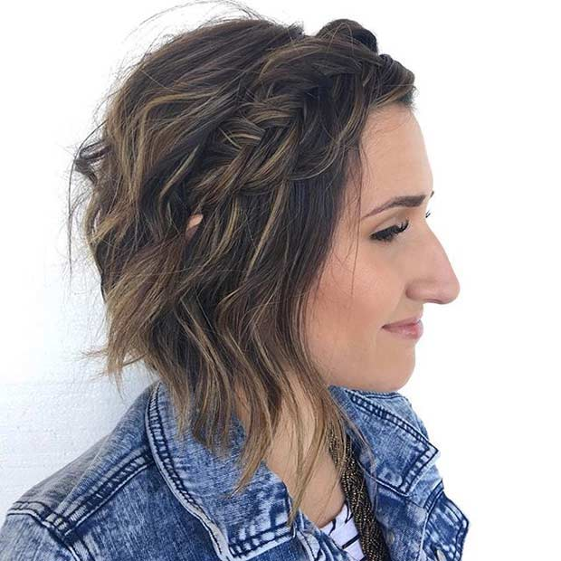 Messy Braided Bob Haircut