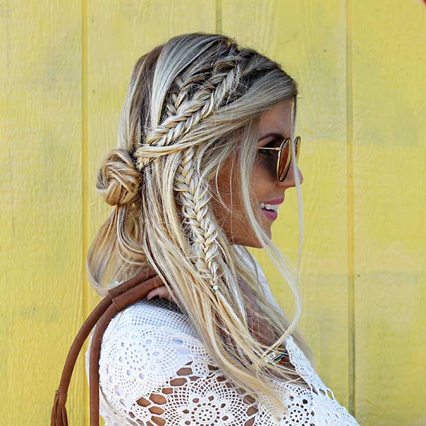 Boho Fishtail Braids for Summer
