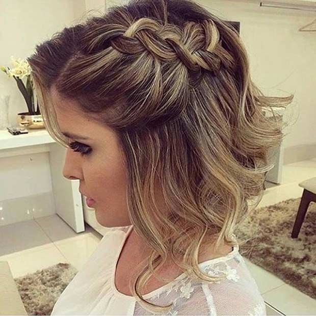 Side Dutch Braid Hairstyle for Medium Length Hair