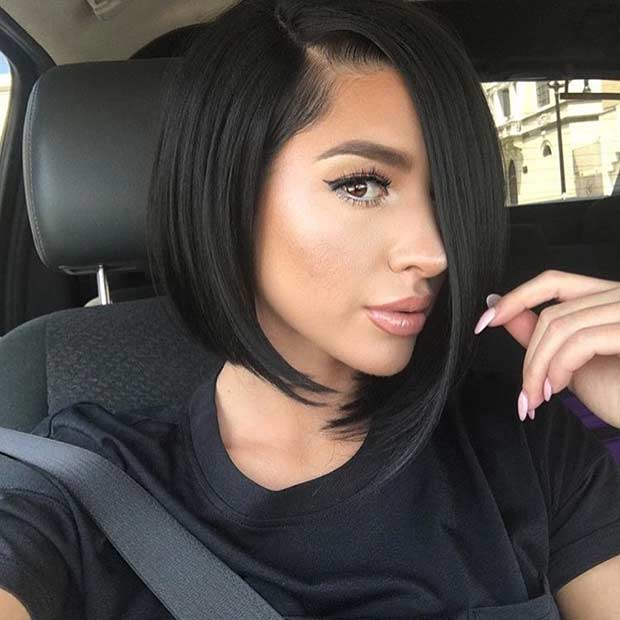 Asymmetrical Bob Haircut for Summer