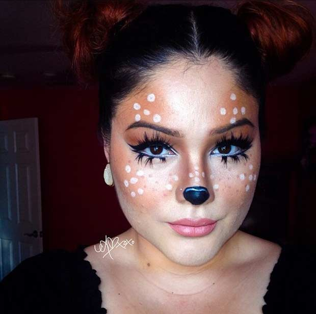 Cute Deer Makeup Look for Halloween