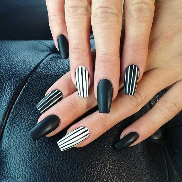 25 Edgy Black Nail Designs \u2013 OBSiGeN