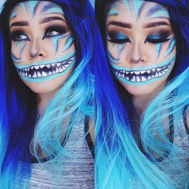 Cheshire Cat Halloween Makeup Look