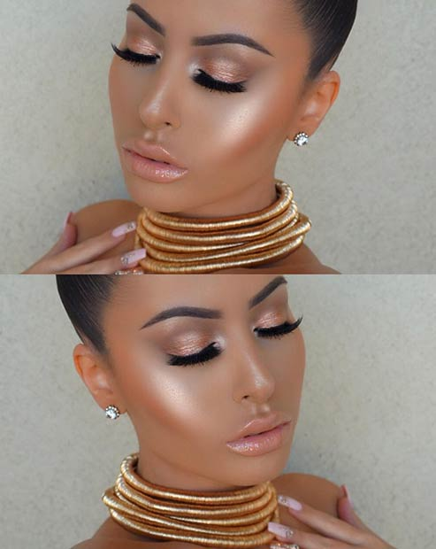 Glowing Makeup Look for Summer