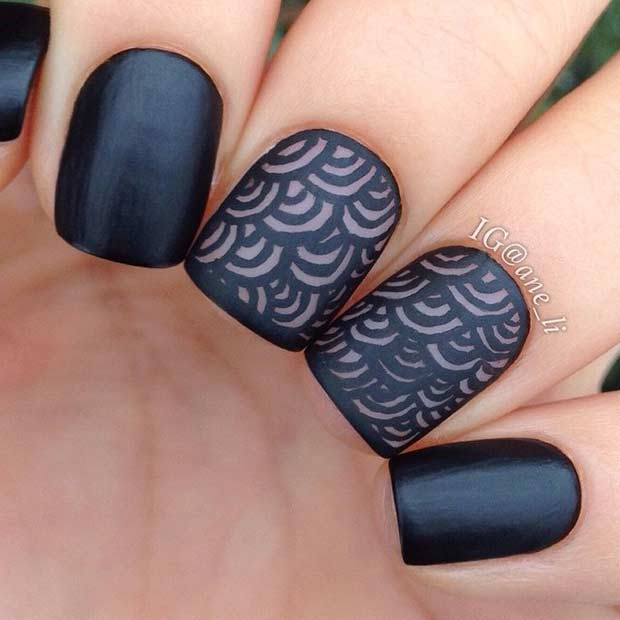 25 Edgy Black Nail Designs | Page 3 of 3 | StayGlam