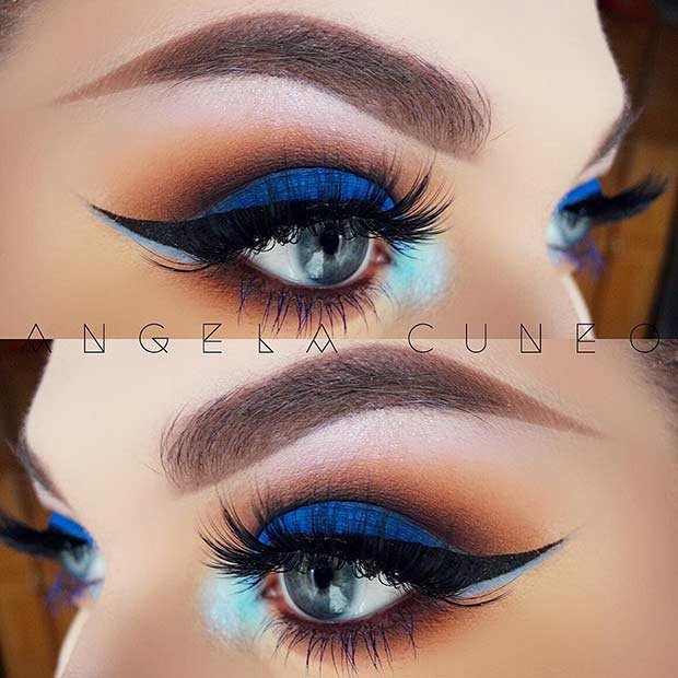 Blue Smokey Eye Makeup Look