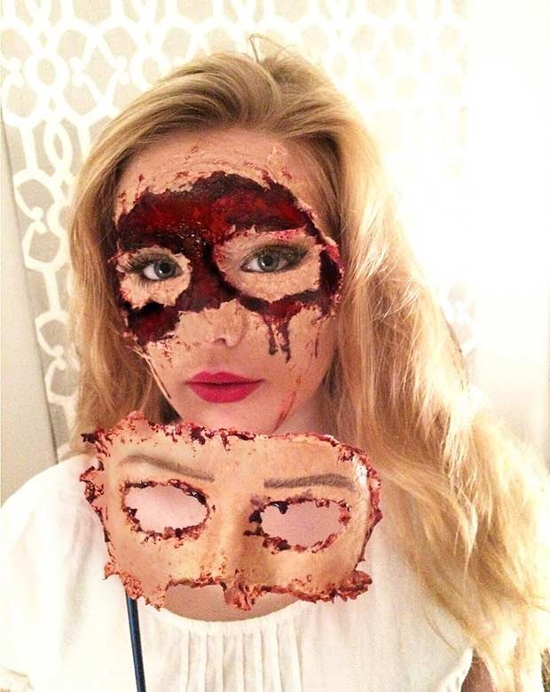 Scary Flesh Mask Idea for Halloween