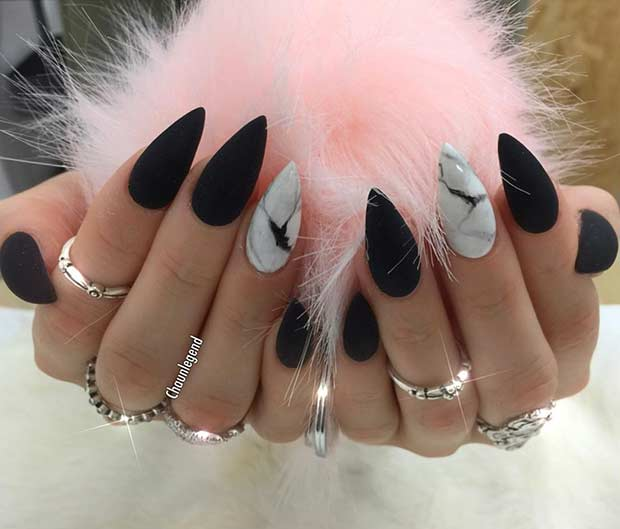 25 Edgy Black Nail Designs | Page 2 of 3 | StayGlam