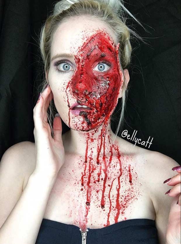 Gore Halloween Makeup Look
