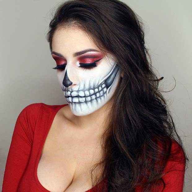 Halloween Skeleton Makeup Idea