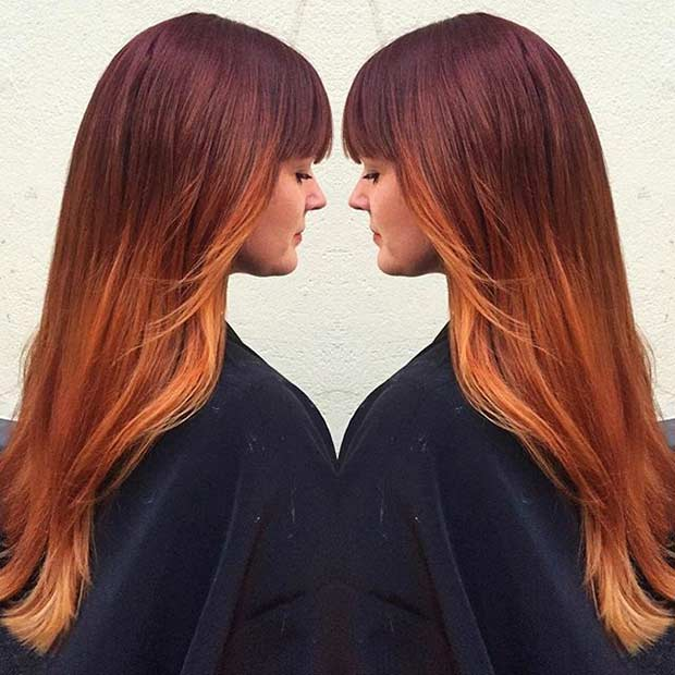 Red Copper Colormelt Hair