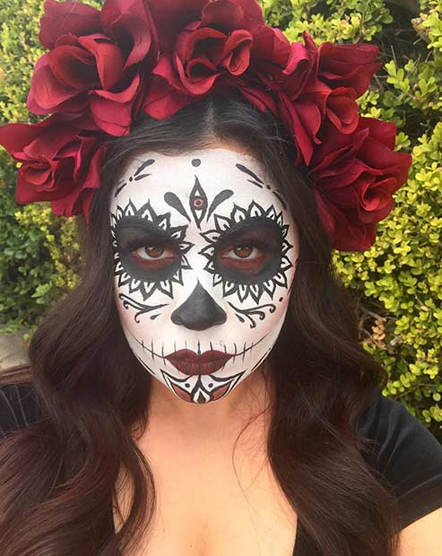 Sugar Skull Halloween Makeup Look