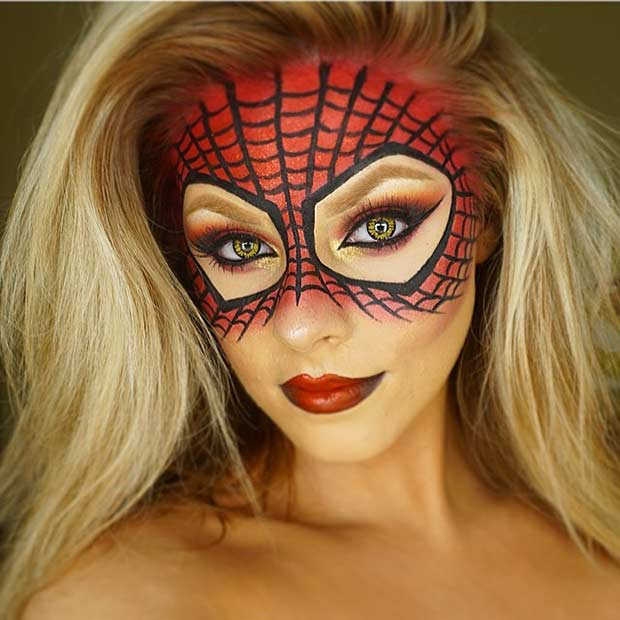 Spiderman Makeup Mask for Halloween