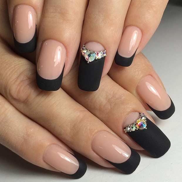 - 25 Edgy Black Nail Designs - Crazyforus