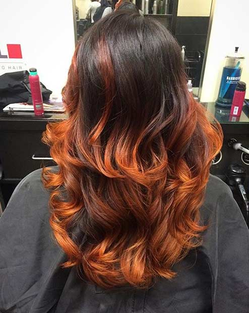 25 Copper Balayage Hair Ideas For Fall Page 2 Of 3
