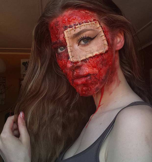 Bloody SFX Halloween Makeup Look