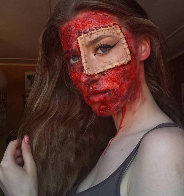 Bloody SFX Halloween Makeup Look