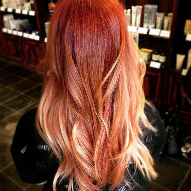 Copper Balayage Hair Ideas Fall