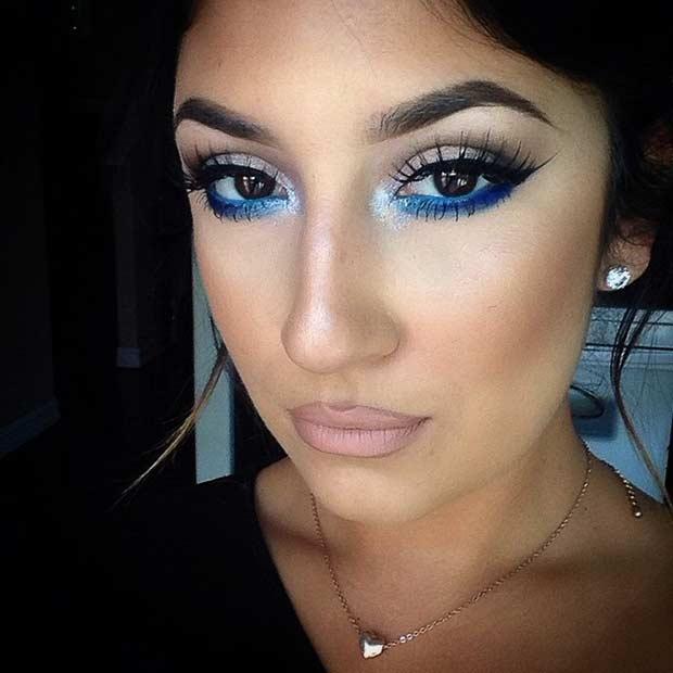 Smokey Blue Lower Lash Line for Brown Eyes
