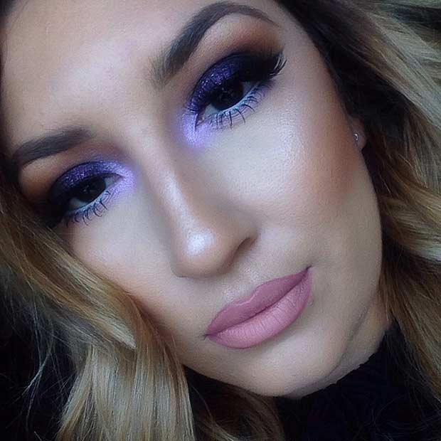 Purple Smokey Eye Look for Summer