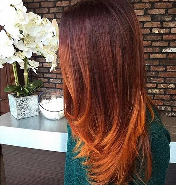 25 copper balayage hair ideas for fall page 2 of 3 stayglam. Black Bedroom Furniture Sets. Home Design Ideas