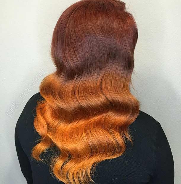 Dark to Light Copper Ombre Hair