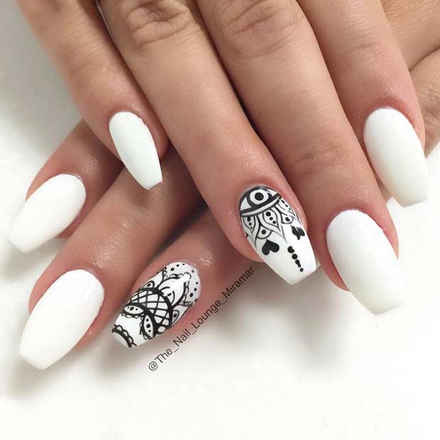 21 Chic White Acrylic Nails To Copy Stayglam