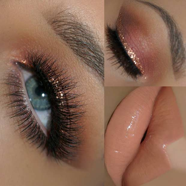 Rose Gold Eye Makeup Look for Summer