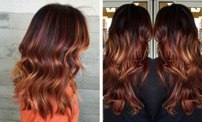 Copper Balayage Hair for Fall
