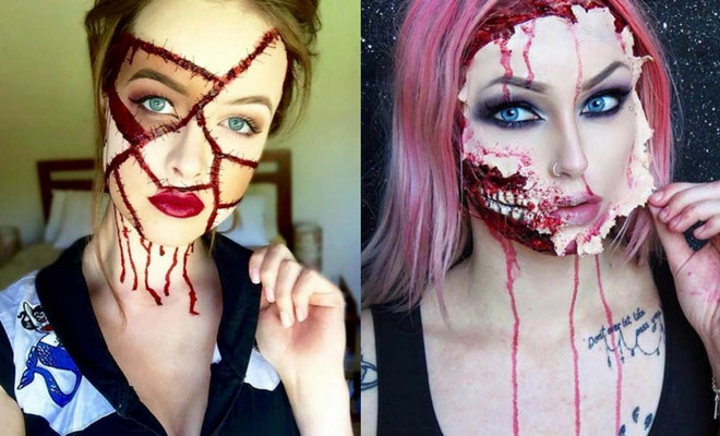 21 scary halloween makeup ideas stayglam - Scary Faces For Halloween With Makeup