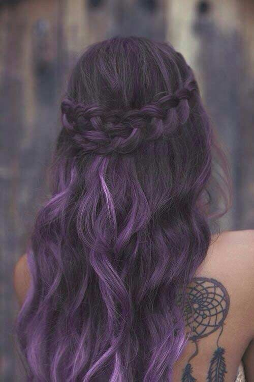 21 Bold And Trendy Dark Purple Hair Color Ideas Stayglam