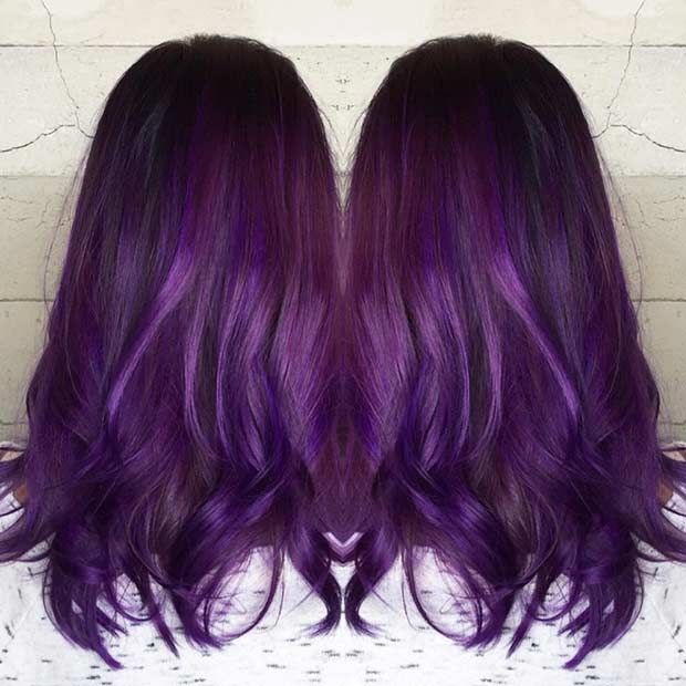 Grape Purple Hair Color Idea
