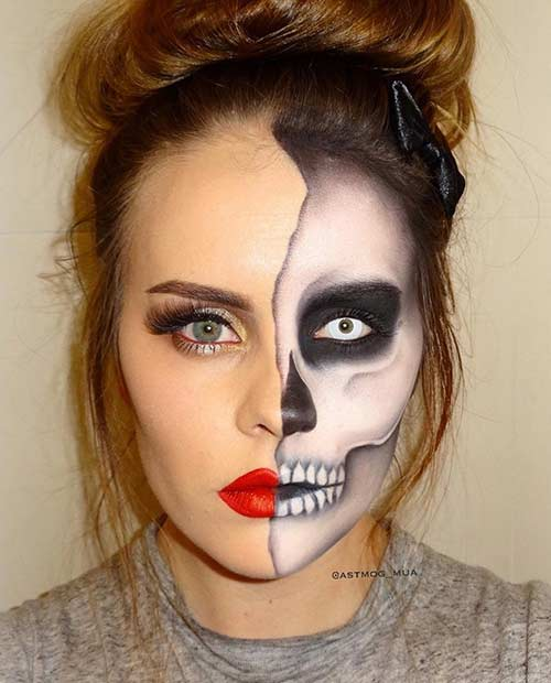 23 cool skeleton makeup ideas to try for halloween page 2 of 2 stayglam. Black Bedroom Furniture Sets. Home Design Ideas