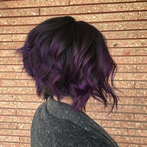 21 Bold And Trendy Dark Purple Hair Color Ideas Page 2
