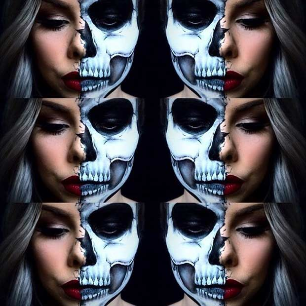 23 Cool Skeleton Makeup Ideas to Try for Halloween | Page 2 of 2 ...