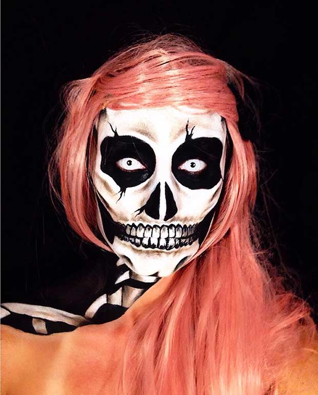 Scary Skeleton Makeup for Halloween