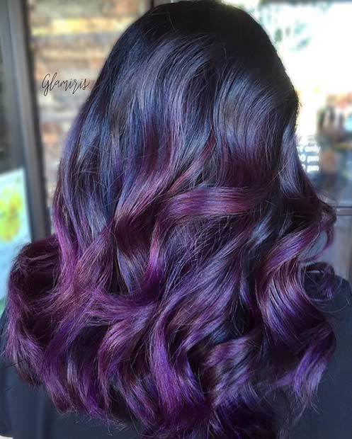 21 Bold And Trendy Dark Purple Hair Color Ideas Page 2 Of 2 Stayglam