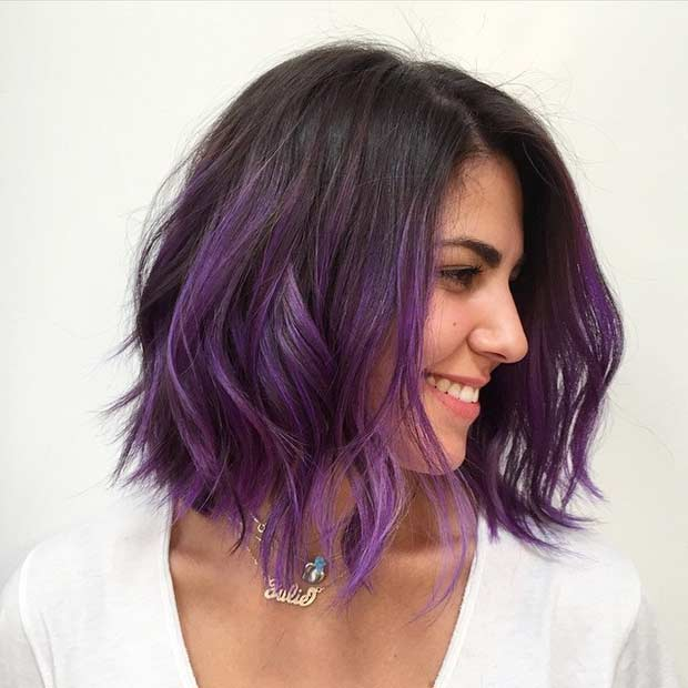 Dark Purple Bob Hairstyle