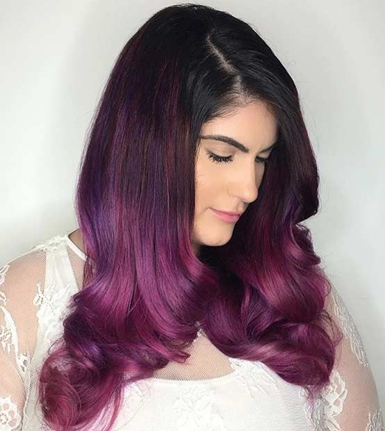 Velvet Ombre Hair Color Idea
