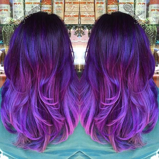 Smoked Purple and Lavender Hair