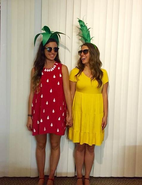 bff fruit matching halloween costume idea