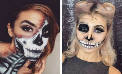 23 cool skeleton makeup ideas to try for halloween  stayglam