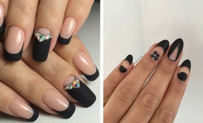 Edgy Black Nail Designs