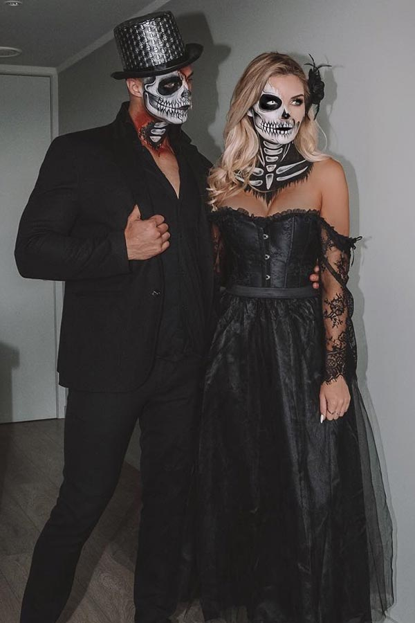Spooky Skeleton Couples Costumes