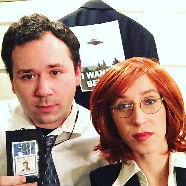 Mulder and Scully DIY Couple Halloween Costume