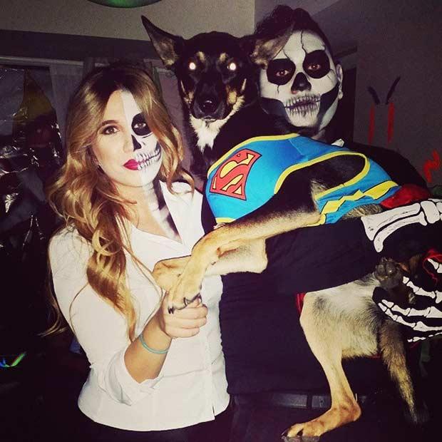 skeleton couple halloween costume idea