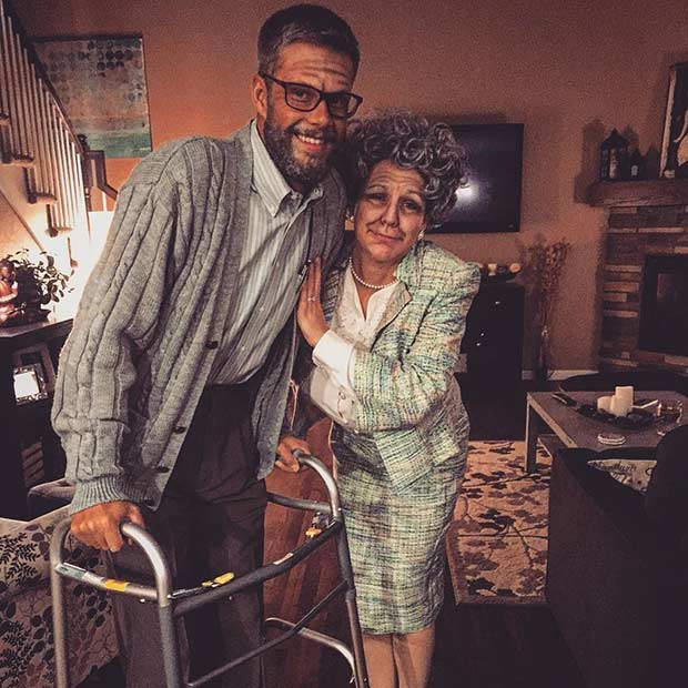 Old Couple Halloween Couple Costume Idea  sc 1 st  StayGlam : creative couple halloween costumes  - Germanpascual.Com