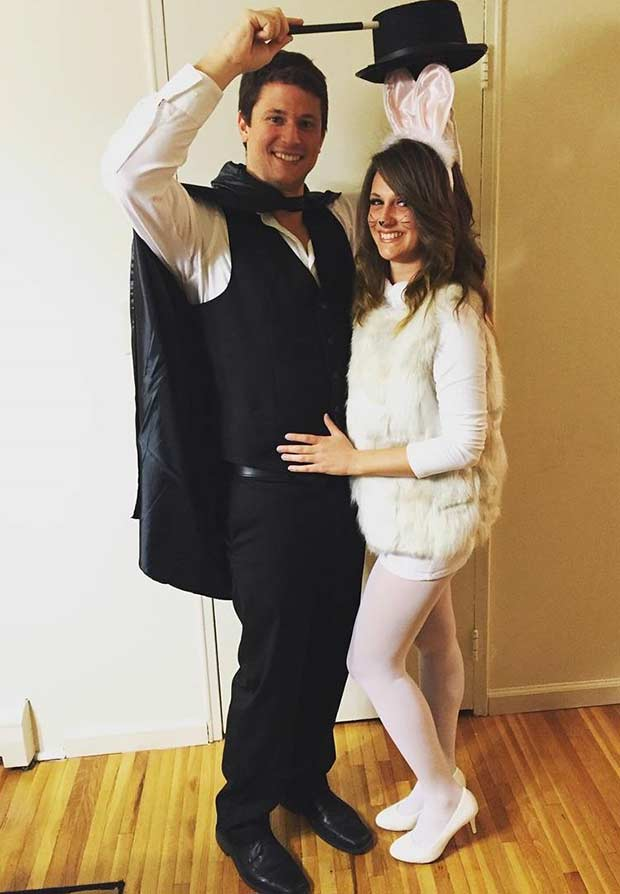 Magician and Bunny DIY Couple Halloween Costume